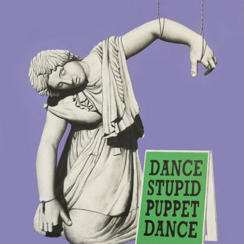 DANCE STUPID PUPPET DANCE - 280x230 - acrilico spray, acrilico e carboncino su tela - 2018