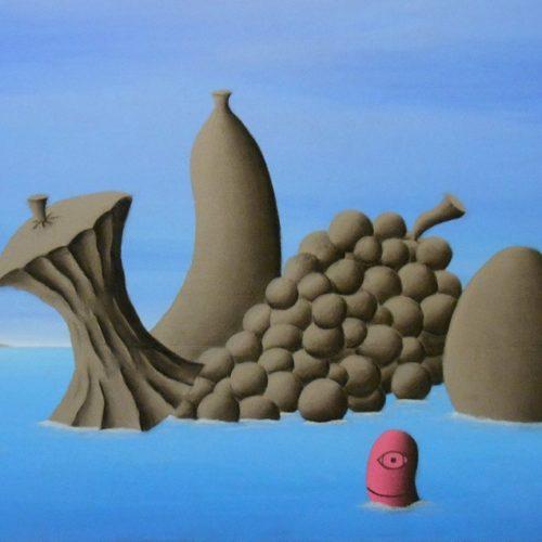 IL NAUFRAGIO DELLE IDEE - 40x60 cm - acrilico e carboncino su tela - 2014