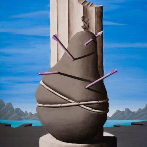 A CERTAIN IDEA OF MODERNITY (S. SEBASTIANO) - 200x140 cm - acrilico e carboncino su tela - 2013