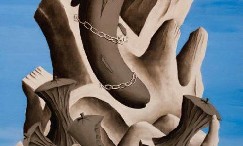 A CERTAIN IDEA OF MODERNITY (PROMETEO) - 200x140 cm - acrilico e carboncino su tela - 2013