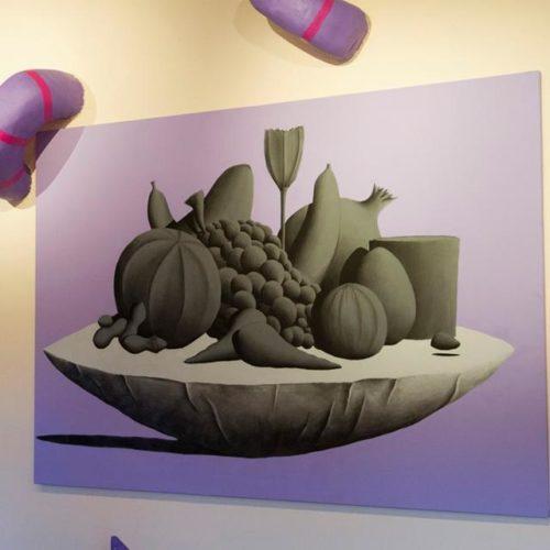 Sala del Castello di Arcidosso - Installazione per Alterazioni Festival - n.2 Tele 200x290 e sculture in Polistirolo e acrilico - 2014 particolare6