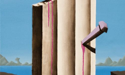 IL SUPPLIZIO DI AFRODITE - 70x50 cm - acrilico e carboncino su tela - 2014