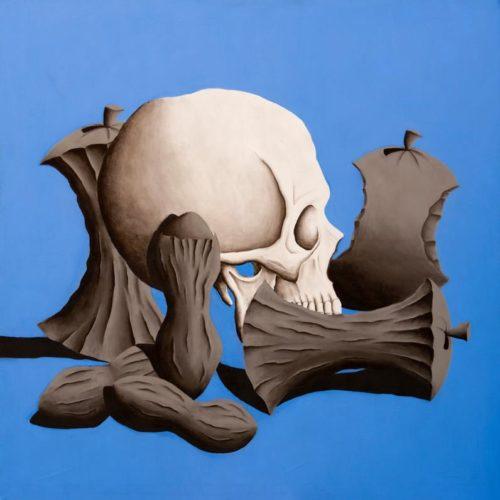ADAMO ROSSI ED EVA BIANCHI PART 1 - 150x150 cm - acrilico e carboncino su tela - 2014