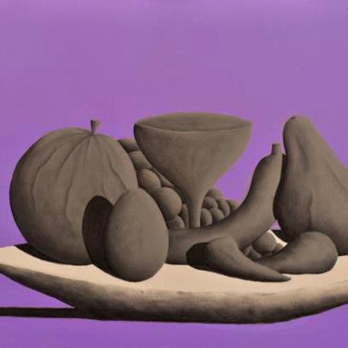 NATURA MORTA. PUNTO - 50x70 cm - acrilico e carboncino su tela - 2013