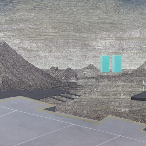 9 panorama, 40x 30, acrilico su stampa flatbad