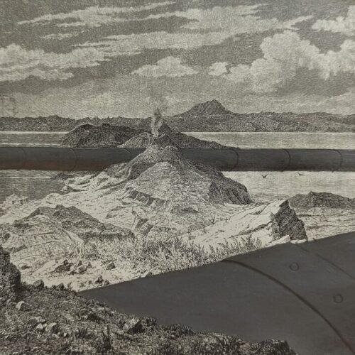Panorama #2 20x15 Acrilico e matita su stampa (1)