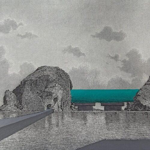 Panorama #4 20x15 Acrilico e matita su stampa (3)